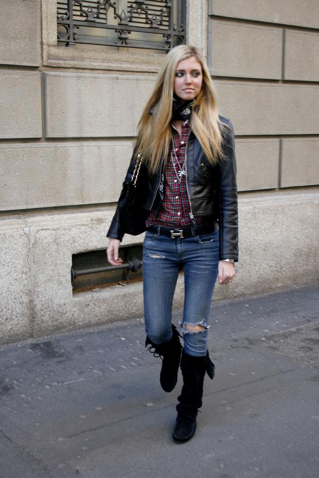 Образ с джинсами.