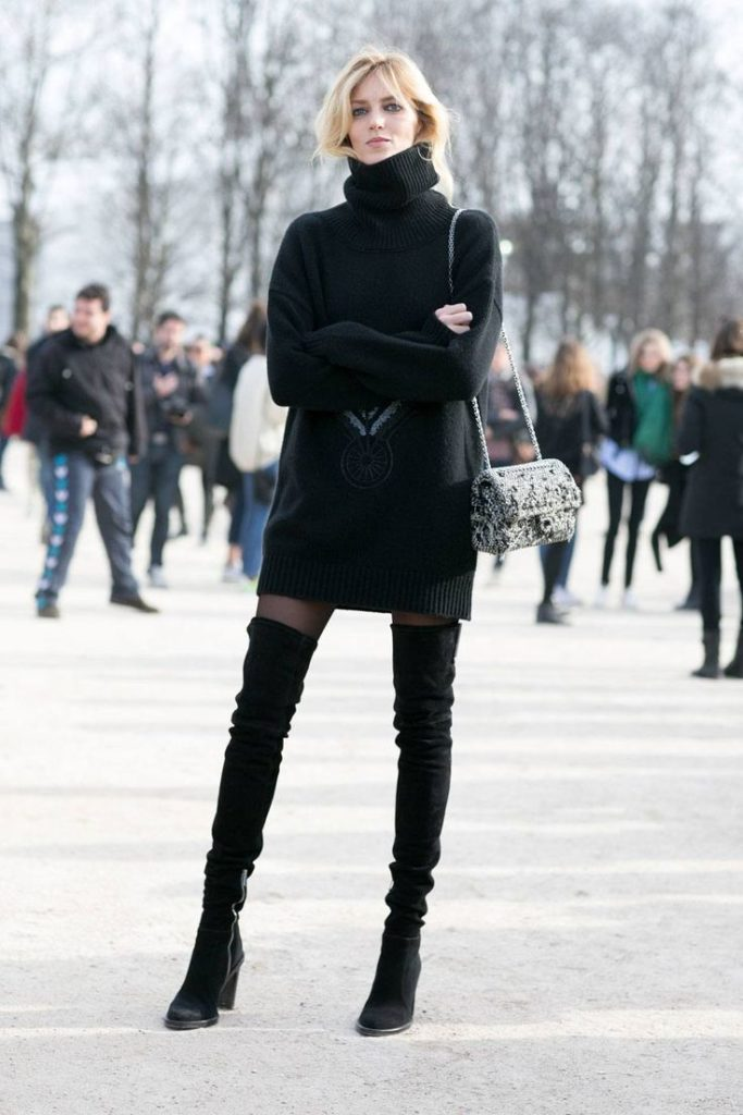 Образ с чёрными ботфортами.
