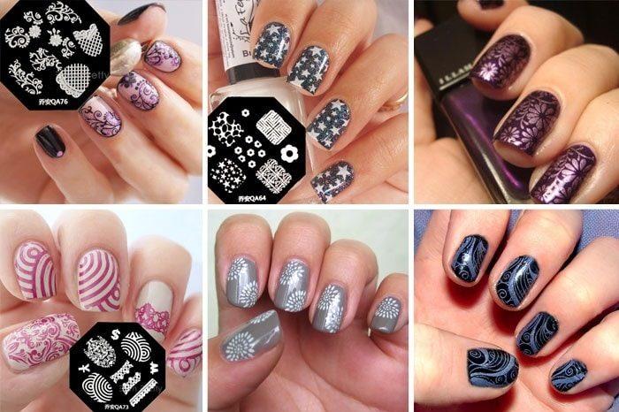 Дизайн ногтей со стемпингом.