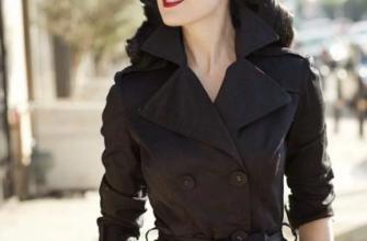 С чем носить чёрный тренч?