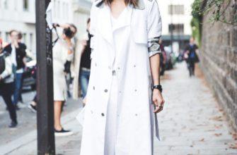 Белый тренч — с чем носить