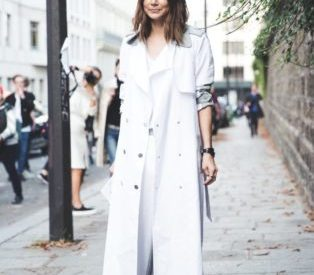 С чем носить белый тренч