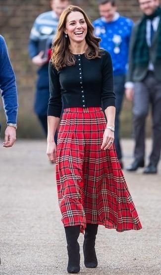 Образы с шотландской юбкой