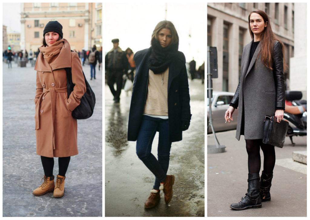 С какой обувью нужно носить женское пальто? в зависимости от модели