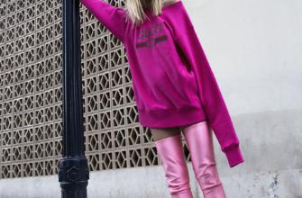 Розовые сапоги: с чем носить фото
