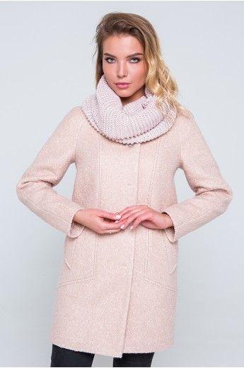 С чем можно носить пальто персикового цвета? снуд