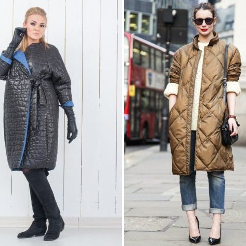С чем носить стёганое пальто