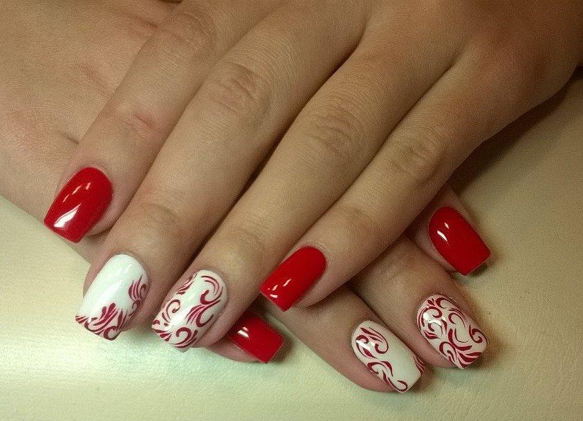Красный и белый.