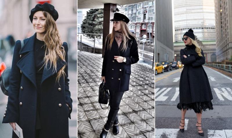 Носят ли шапки с классическими пальто? модели