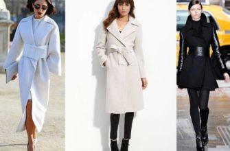 Варианты пальто-халата.