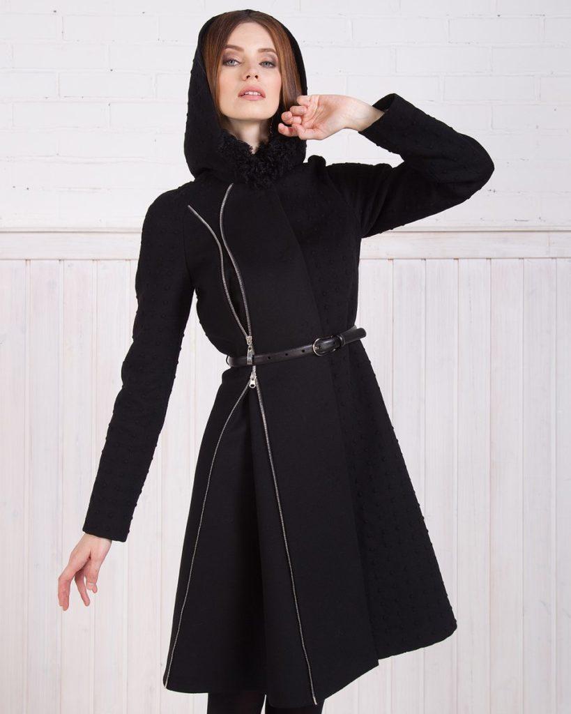 С чем носить пальто с капюшоном
