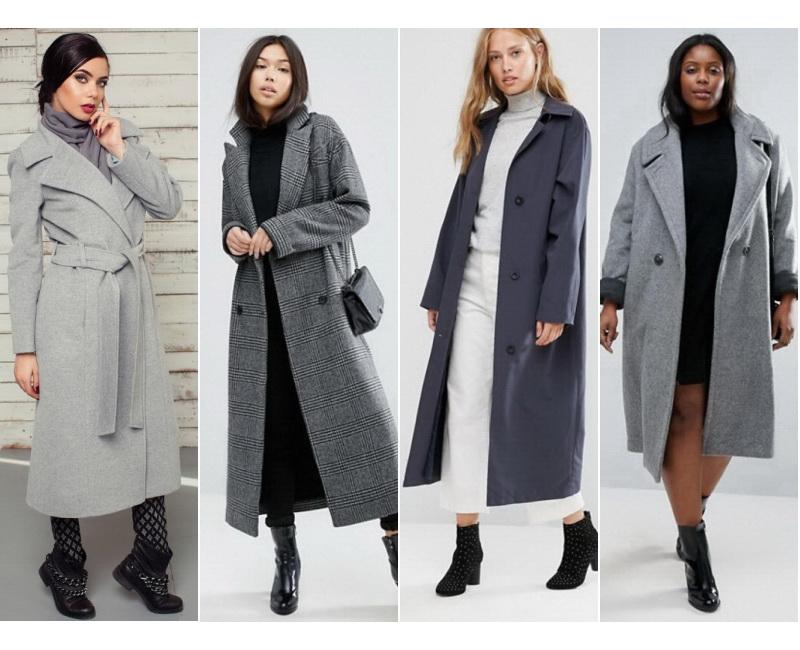 классическое пальто ниже колена