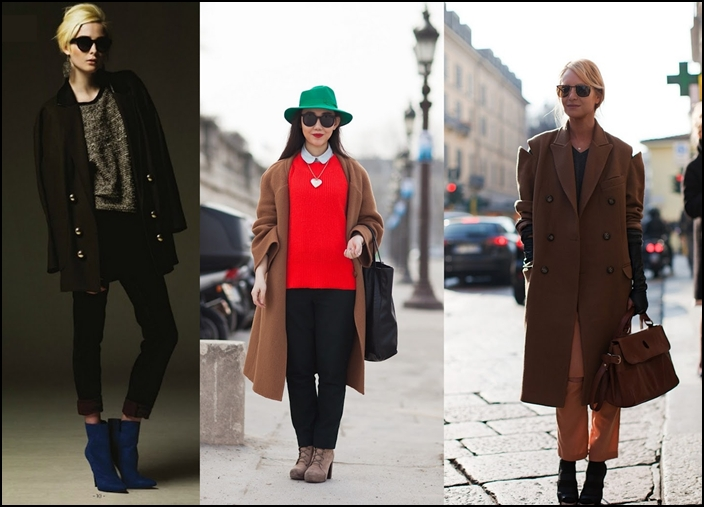 С какой обувью нужно носить женское пальто?