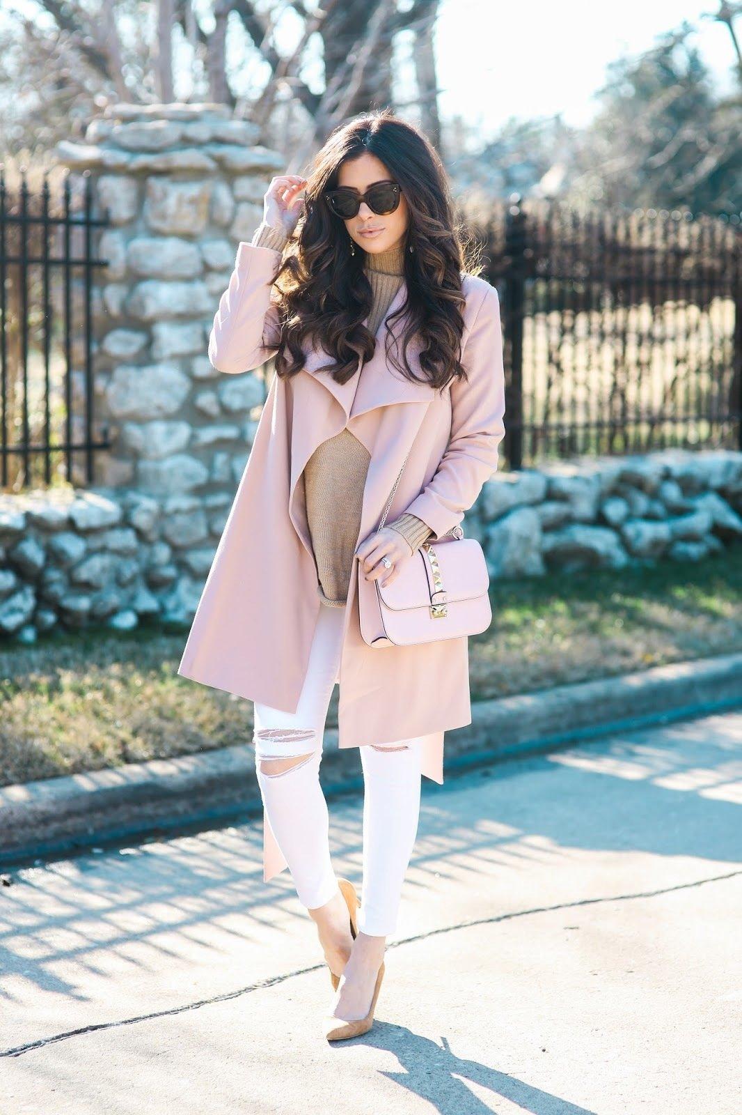 Образ с розовым пальто.
