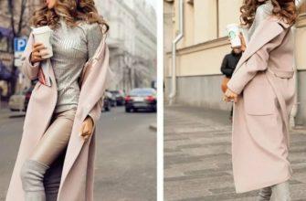 Правила создания образов с пудровым пальто