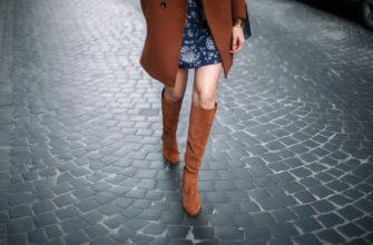 С чем носить рыжие сапоги