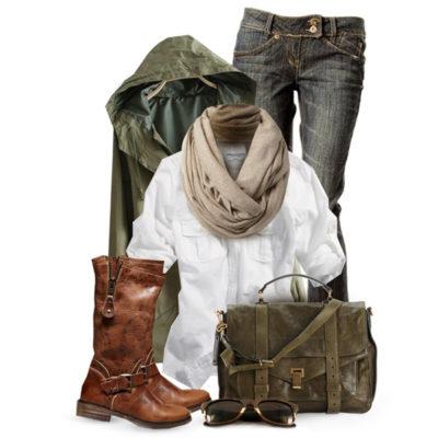 С чем носить коричневые сапоги