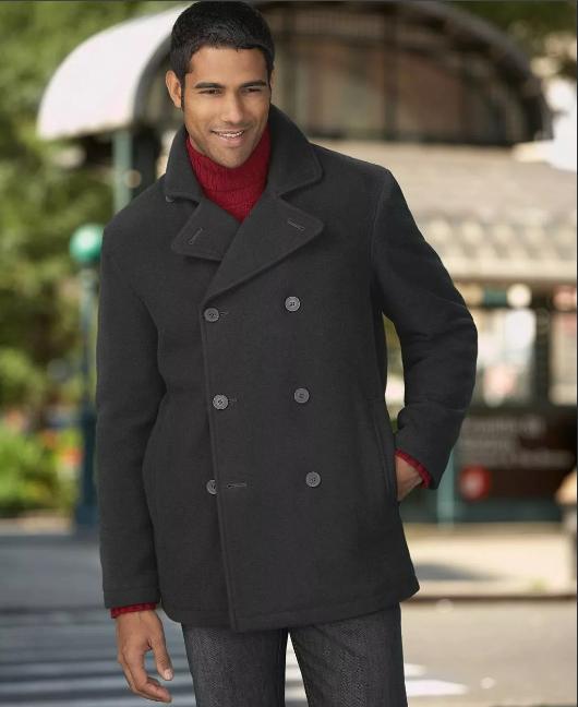 черное мужское пальто короткое