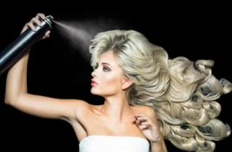 Как смыть лак с волос?