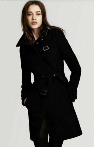 черное пальто тренчкот