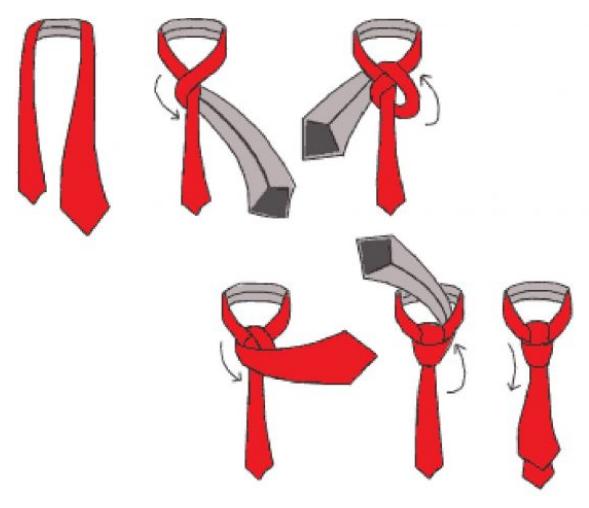 пояс завязать галстуком