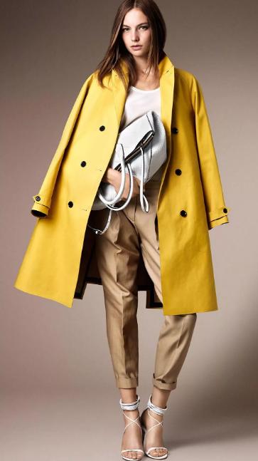 С чем носить жёлтое пальто