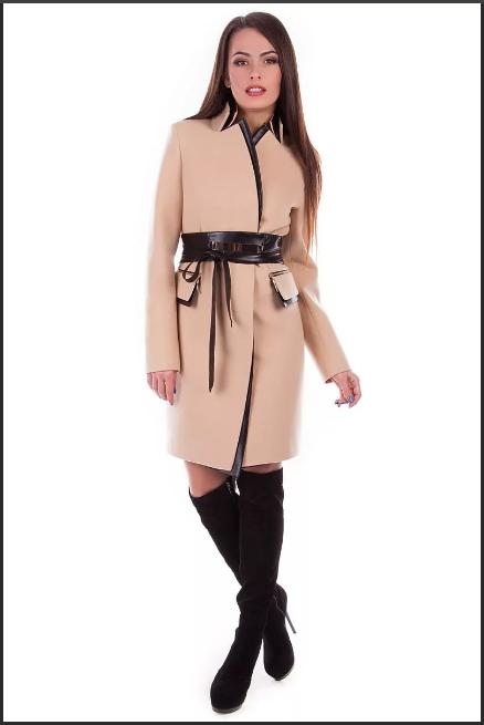 широкий пояс на пальто
