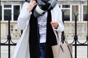 Как завязать длинный шарф на пальто?