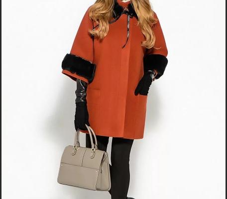 C чем носить терракотовое пальто?