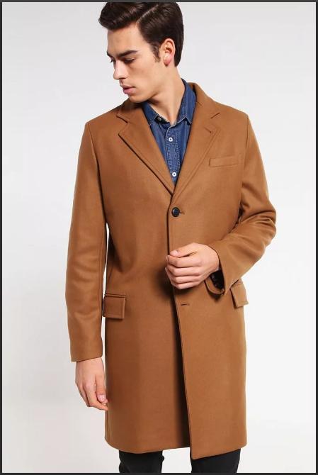 светло-коричневое мужское пальто