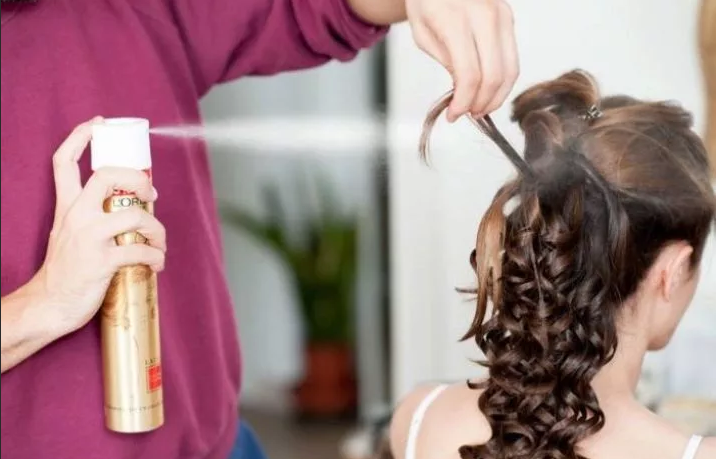 лак для волос прическа