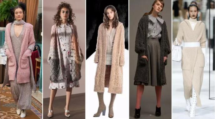 вязаное женское пальто модели