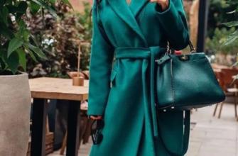 Как создать образ с пальто изумрудного цвета?