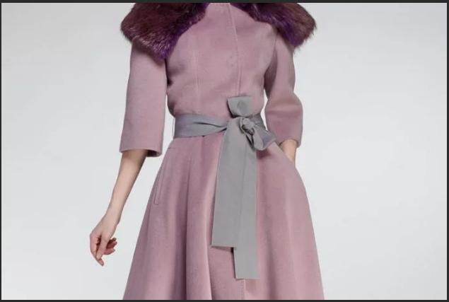 пояс на пальто контрастного цвета