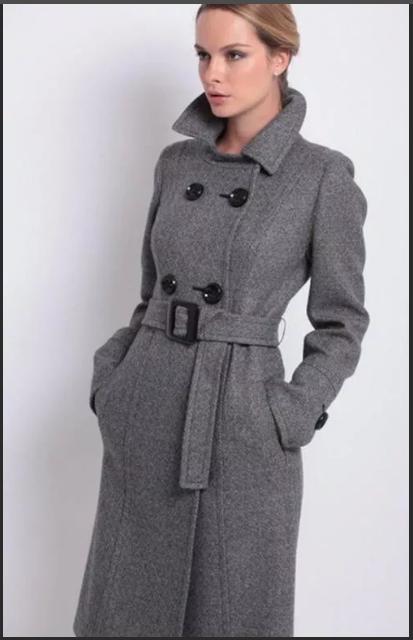 женское пальто из сукна