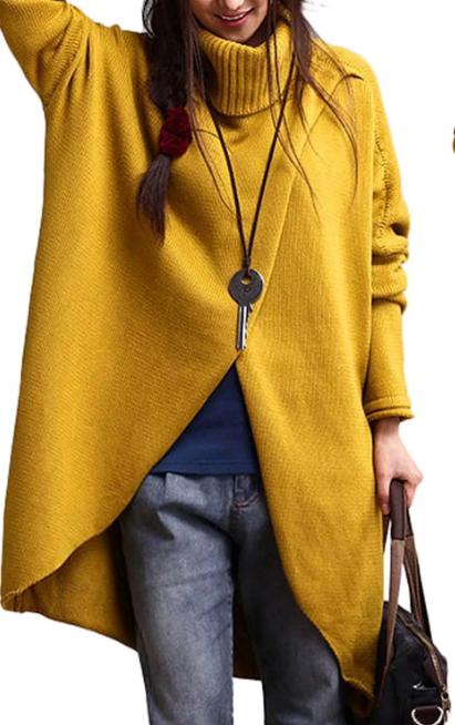 вязаное женское пальто оверсайз