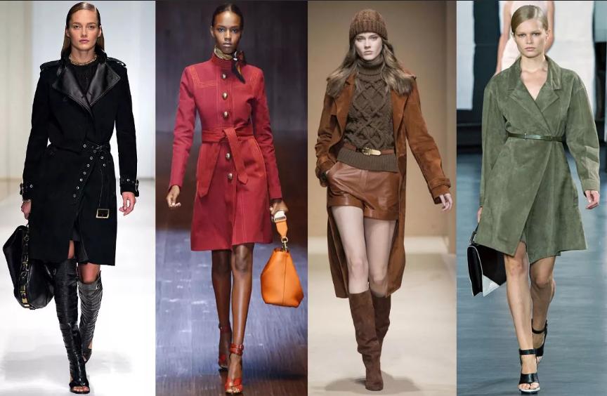 пальто с поясами