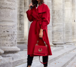 Какая шапка подойдёт к красному пальто, как комбинировать