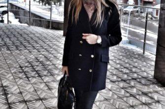 Шапка к черному пальто