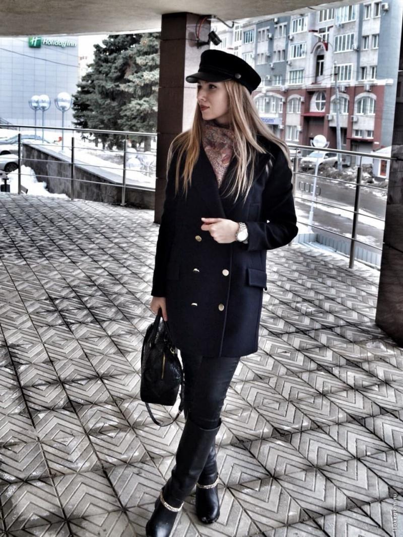 Какая шапка подходит к чёрному пальто