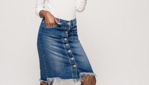 С чем носить джинсовую юбку? Стильные образы
