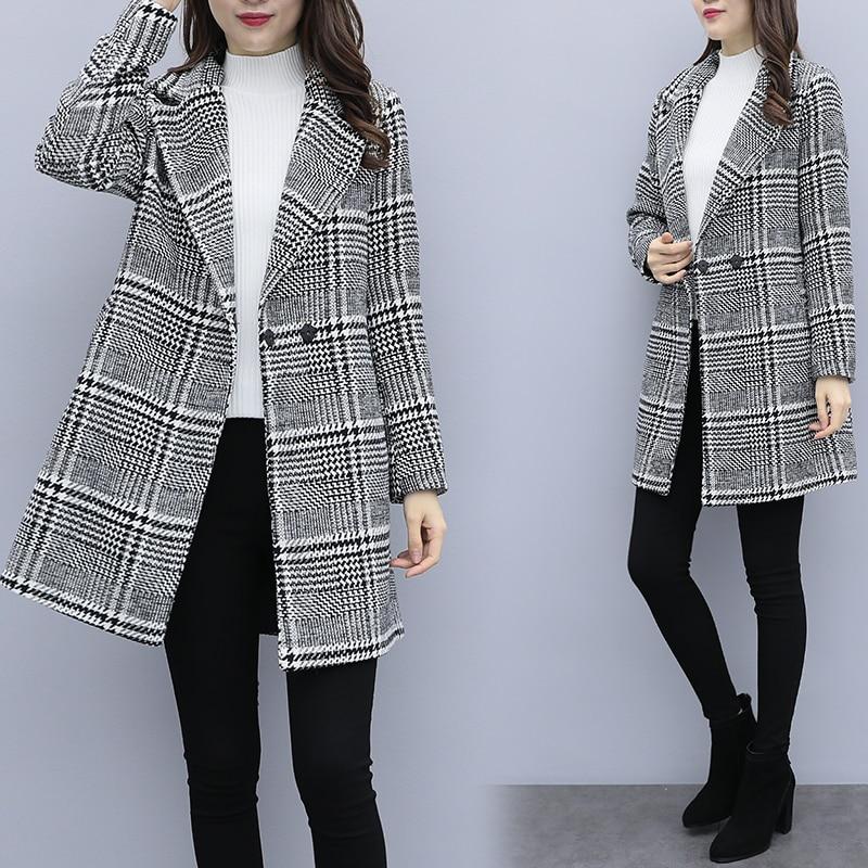 С чем носить женское пальто с узором «гусиная лапка»? 2