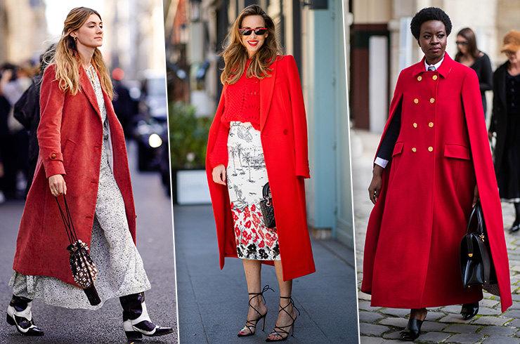 образы с красным пальто