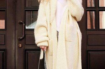 Вязаное пальто: оригинальные образы и советы по сочетанию