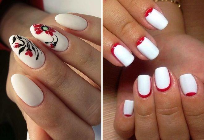 белый с красным