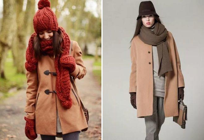 С какой шапкой носить бежевое пальто, материалы