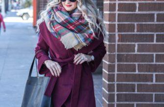 Какой шарф подойдёт к бордовому пальто