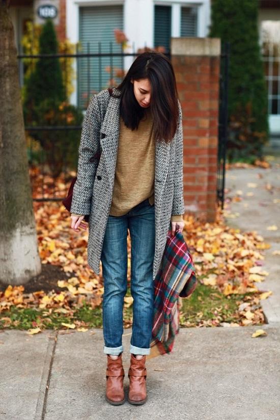 С чем носить пальто в «ёлочку»? под низ