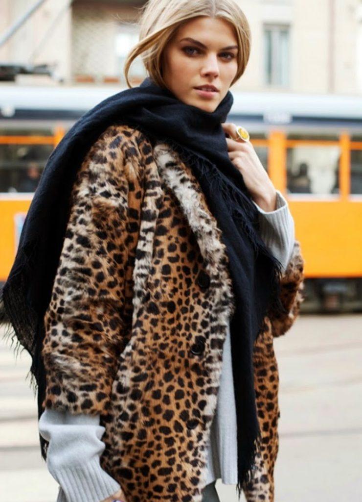 С чем носить шубу «под леопарда»?