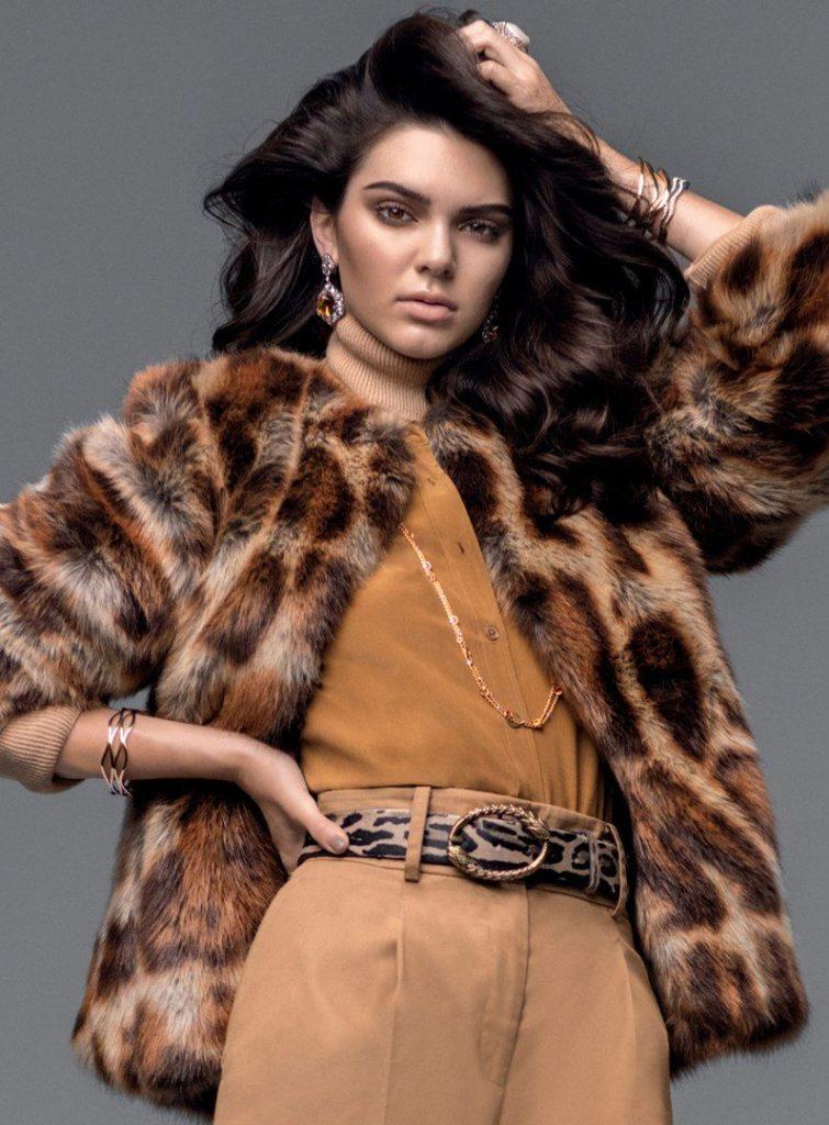 С чем носить шубу «под леопарда» кендалл